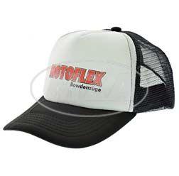 Basecap, Truckercap - weiß/schwarz - mit MOTOFLEX-Logo