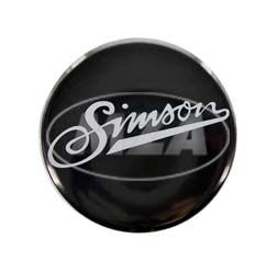 Metal button Ø25mm - with protective coating and d-shaped pin, image: SIMSON soft