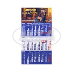 SIMSON-Kalender 2016, 3-Monats-Ansicht mit Tagesmarkierung