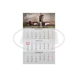 3-Monats-Kalender 2018 - mit Tagesmarkierung