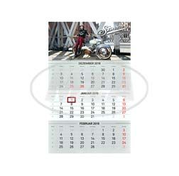 3-Monats-Kalender 2019 - mit Tagesmarkierung