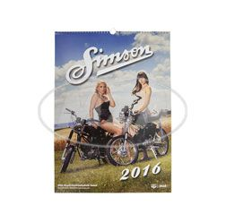 Simson Erotic Photo Calendar 2016 - color print, printed Simson - carton