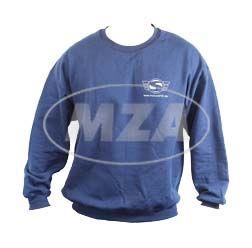 Sweatshirt, Pullover, Farbe: Marineblau, Größe XL - mit Reflexdruck Silber