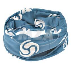 Schlauchtuch mit Wirbellogo - weiß/olympiablau