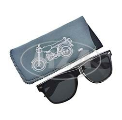 Sonnenbrille inkl. bedrucktem Brillenetui aus Neopren mit S51-Mokick-Motiv