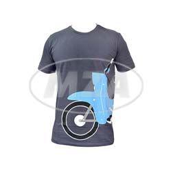 T-Shirt, Farbe: anthrazit, Größe: L - Motiv: Schwalbe - 100% Baumwolle