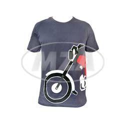 T-Shirt, Farbe: anthrazit, Größe: M - Motiv: S51 Mokick - 100% Baumwolle