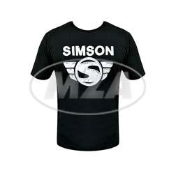 T-Shirt, Farbe: schwarz, Größe: S - Motiv: SIMSON - 100% Baumwolle
