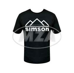 T-Shirt, Farbe: schwarz, Größe: M - Motiv: SIMSON Berge - 100% Baumwolle
