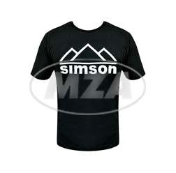 T-Shirt, Farbe: schwarz, Größe: S - Motiv: SIMSON Berge - 100% Baumwolle