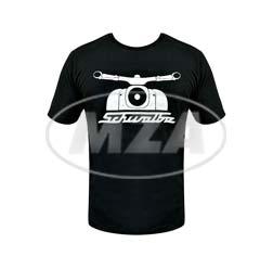 T-Shirt, Farbe: schwarz, Größe: M - Motiv: 55 Jahre Schwalbe - 100% Baumwolle