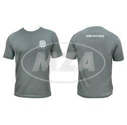 T-Shirt, Farbe: Grau, Größe: L - SIMSON-Treffen Suhl - KOMMT NACH HAUSE - 100% Baumwolle