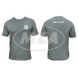 T-Shirt, Farbe: Grau, Größe: XXL - SIMSON-Treffen Suhl - KOMMT NACH HAUSE - 100% Baumwolle