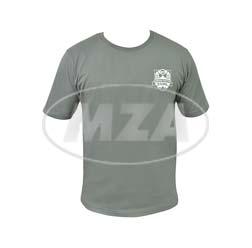 T-Shirt, Farbe: Grau, Größe: M - Motiv: SIMSON-Treffen Suhl