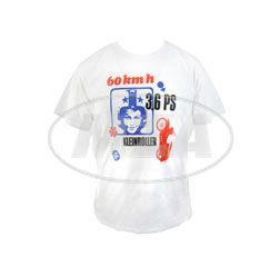 RETRO-SIMSON-Werbeanzeige auf TShirt, Herrengröße S -