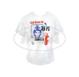 RETRO-SIMSON-Werbeanzeige auf TShirt, Herrengröße L -