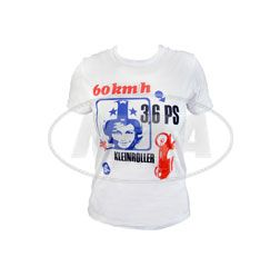 RETRO-SIMSON-Werbeanzeige auf TShirt, Damengröße L -