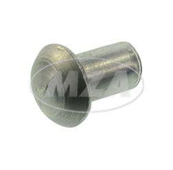 Halbrundniet 4x6 Alu  (DIN 660)