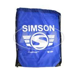 SIMSON-Sportbeutel - blau, mit Kordelzugverschluss - Material: 210D-Polyester - mit SIMSON-Aufdruck