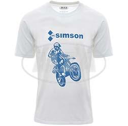 T-Shirt, Farbe: weiß, Größe: L - Motiv: SIMSON Cross - 100% Baumwolle