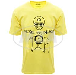 T-Shirt, Farbe: FrozenYellow, Größe: L - Motiv: Schwalbe Kumpel - 100% Baumwolle