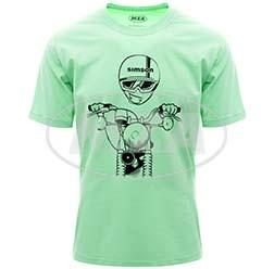 T-Shirt, Farbe: NeonMint, Größe: L - Motiv: S51 Kumpel - 100% Baumwolle