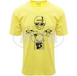 T-Shirt, Farbe: FrozenYellow, Größe: S - Motiv: S51 Kumpel - 100% Baumwolle