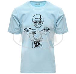 T-Shirt, Farbe: OceanBlue, Größe: XXL - Motiv: S51 Kumpel - 100% Baumwolle