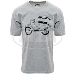 T-Shirt, Farbe: hellgrau meliert, Größe: XS - Motiv: Schwalbe Basic - 100% Baumwolle
