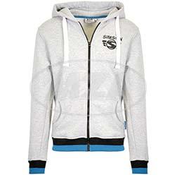 Zipp Jacke, Farbe: grau, Größe: M - Motiv: SIMSON