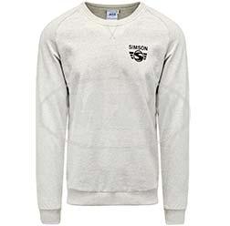 Herren-Sweatshirt, grau meliert, Größe: S - Motiv: SIMSON - 100% Baumwolle
