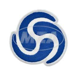 VPE 10L Patch zum Aufnähen/Aufbügeln, Größe: 80x79 mm, Motiv: Wirbel-Logo