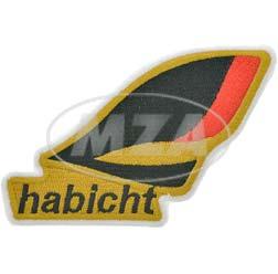 VPE 10L Patch zum Aufnähen/Aufbügeln, Größe: 110x75 mm, Motiv: Habicht