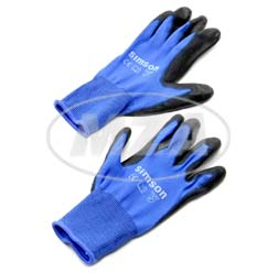 VPE 12L Paar-Arbeitshandschuhe, blau, Größe: M, Motiv: SIMSON