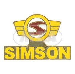 PIN SIMSON Logo amarillo rojo