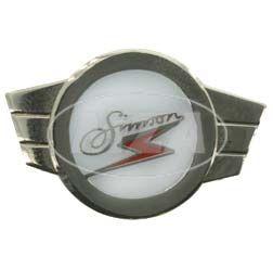 PIN SIMSON scooters - marca, placa - plateada