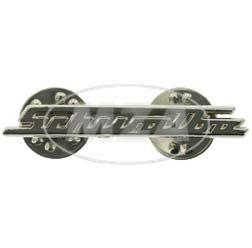 PIN SCHWALBE, Silber - Design gleicht Schriftzug v. Beinblech, Vorderteil bei KR51 - sehr filigrane Arbeit, ca. 38mm breit