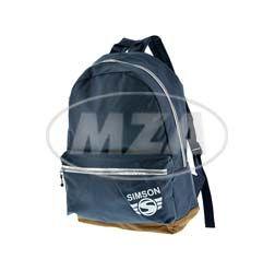 Urban Rucksack, blau, braune Unterseite, verstellbarer Gurt, Motiv: SIMSON