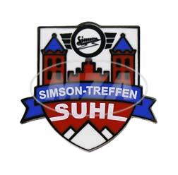 "PIN """"Simson-Treffen Suhl"""" - Wappen, 4-farbig, Hartemaille"