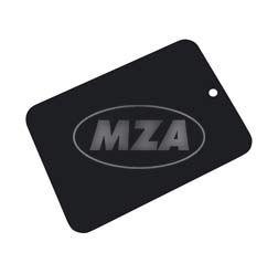 Farbmuster auf Blech Leifalit (Premium)  schwarz matt für Rahmen Simson