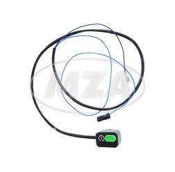 Startkabel Anlasser mit Taster - schwarz / blau + blau - 0,75 mm² - Anlasser Mokick
