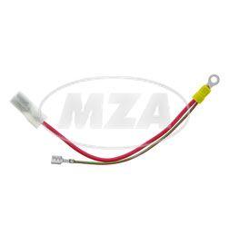 Kabel f. Batterie und Sicherung - rot / grün 1,5 mm² + rot 4 mm² - Anlasser Mokick