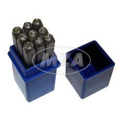 Set Schlagzahlen - Ziffernhöhe: 4,0mm - Schriftcharakter nach DIN 1451