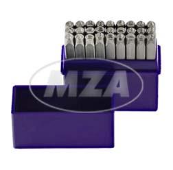 SET Schlagbuchstaben A-Z - Buchstabenhöhe: 3,0 mm - Schriftcharakter nach DIN 1451