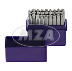 SET Schlagbuchstaben A-Z - Buchstabenhöhe: 4,0 mm - Schriftcharakter nach DIN 1451