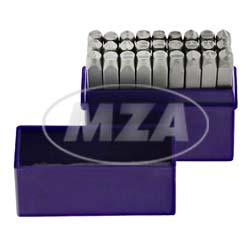 SET Schlagbuchstaben A-Z - Buchstabenhöhe: 5,0 mm - Schriftcharakter nach DIN 1451