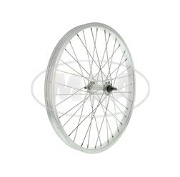 "Spoked wheel 1,2x16"" Alu rim +Alu hub, 36 holes, spokes shiny galvanized and reinforced"