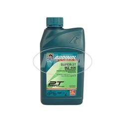 ADDINOL MZ406 SUPER, 2-Takt-Motorenöl, raucharm, low smoke, teilsynthetisch, 12x 1 L Dose