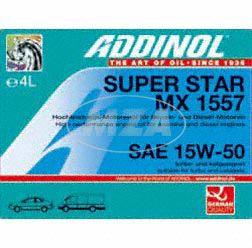 ADDINOL PKW SAE 15W-50 Super Star MX1557, Hochleistungsöl, mineralisch, 4 L Kanister.