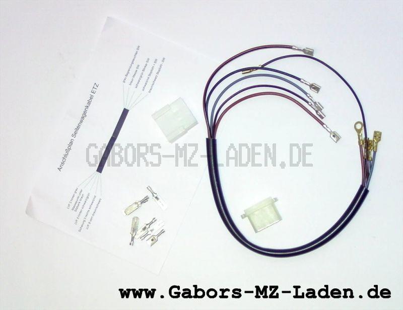 Kabelbaum ETZ 250 Anschlusskabel f. SW komplett m. Steckverbindung